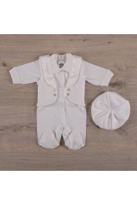 Нарядный комплект с комбинезоном на выписку для мальчика МалышОК, ТМ Betis