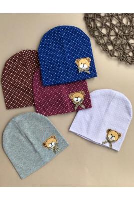 шапочка Мишка для малышей купить для новорожденного