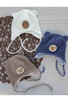 шапка демисезонная малышу