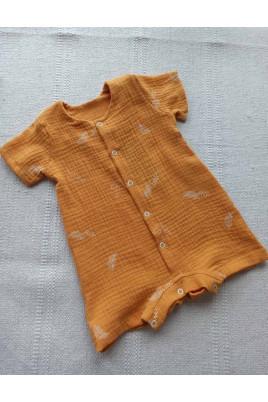 Ромпер для малышей с коротким рукавом Листики