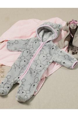 Купить Комбинезон с капюшоном для малышей Микки с разной каймой, велсофт ТМ Кай и Герда