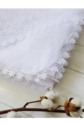 Купить Крыжма для крещения малыша Ваниль, молочная и белая