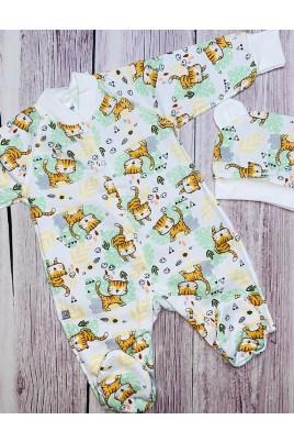 Купить Комплект для новорожденных с шапочкой TIGERS футер TM Mario Kids