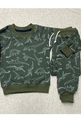 Стильный костюм для малышей в цвете хаки Dino ТМ Timki