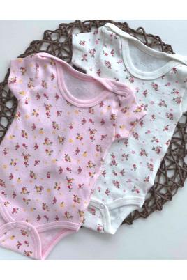 Боди-футболка для девочки Цветы  Няня, ажур
