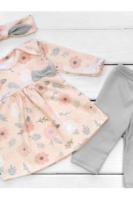 Комплект для девочки Розы Timki (туника,лосины, повязка)