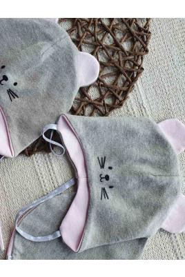 Купить Стильный набор для малышей с шапочкой и манишкой Мышонок