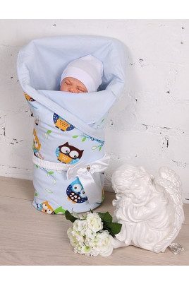 """Конверт """"Valleri совы"""" голубой TM Brilliant Baby"""