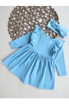 Купить Стильное платье для девочке с повязкой Анютка