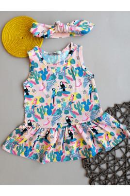 Купить Летнее платье для девочки Райский сад ТМ Няня