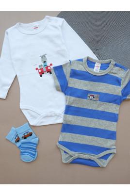 Купить Комплект бодиков с коротким и длинным рукавами для мальчика ТМ Breeze
