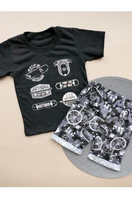Летний комплект с футболкой для мальчика Стиляга ТМ Timki