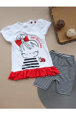 Купить Летний костюм для девочки Красный бант ТМ Timki