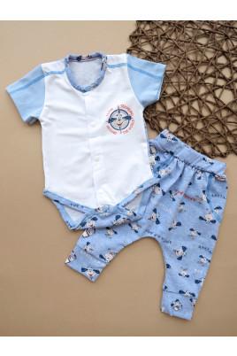 Купить Комплект для малыша с боди корткий рукав Капитан ТМ Кай и Герда