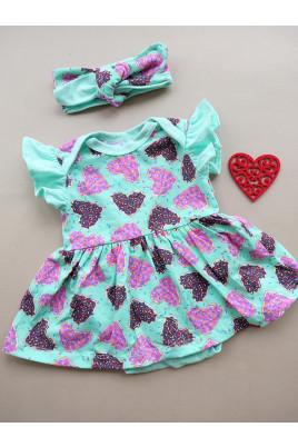 Купить Боди-платье для девочки с коротким рукавом Пончик