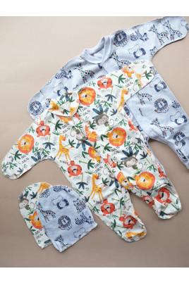 Купить Комплект для новорожденных с человечком Зверята ТМ Пупчик