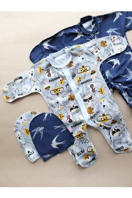 Купить Комплект для новорожденных с человечком Ласточки ТМ Пупчик