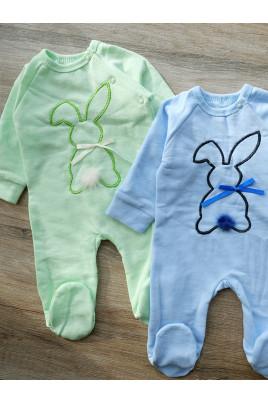 Купить Человечек для новорожденного Зайчик , футер ТМ Timki