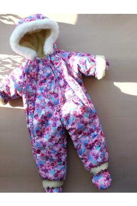 Купить Детский зимний комбинезон трансформер на овчине Киндер Крошка