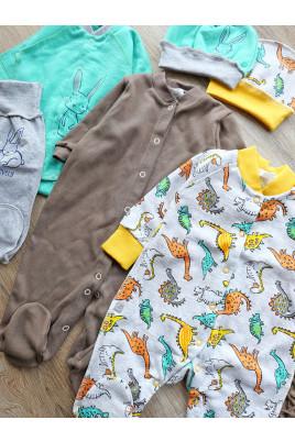 Купить Комплект теплый в роддом №10 из 6 предметов мальчику Милые зверюшки
