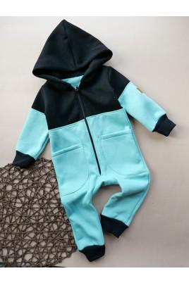Купить Детский теплый комбинезон на флисе с капюшоном на молнии MATHCLESS TM Timki
