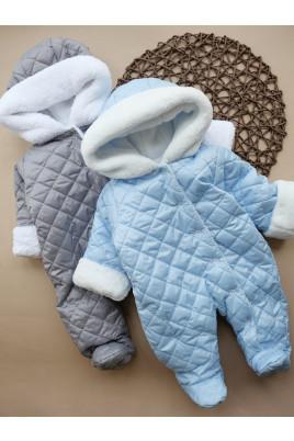 Купить Комбинезон утепленный для малышей Барни голубой