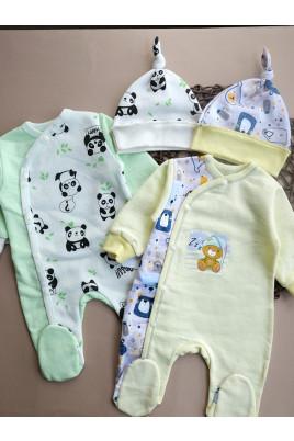 Комплект Panda и Bear, футер ,TM Happy Tot