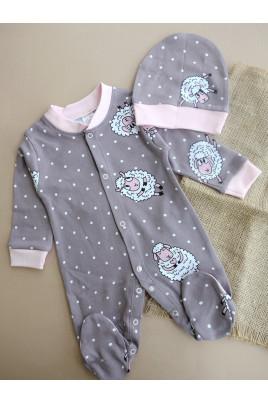 Комплект для новрожденной с шапочкой Овечки,Breeze Турция