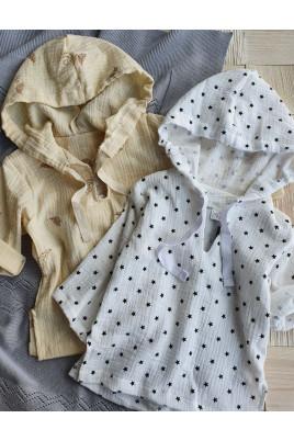 Летняя пляжная рубашка из муслина  Лето Timki