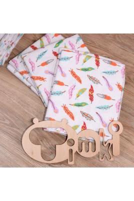 Пеленка для новорожденного Перышки от ТМ Timki, фланель
