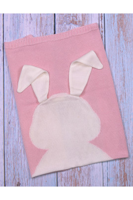 Плед Ушастик розовый ТМ Фламинго