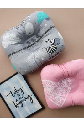 Ортопедическая подушка для малыша Sweet Dreams,серая и розовая