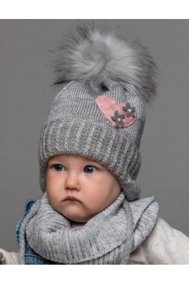 Купить Вязанная теплая шапка теплая для новорожденных и малышек, Ромашка