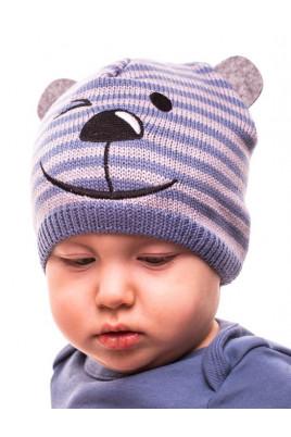 Купить Детская теплая шапка без подкладки Мишка, цвет в ассортименте