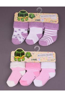 Комплект махровых носков для малышки ТМ BNM