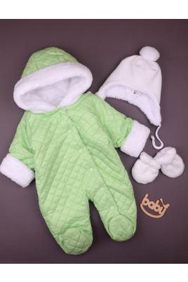 Комбинезон утепленный для малышей  Барни салатовый