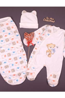 Комплект для малыша с коконом Мишутка