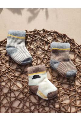 Махровые носочки мальчикам Полосочки Няня