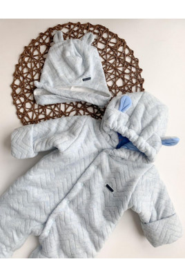Комбинезон с шапочкой утепленный малышу  ТМ Yeeha