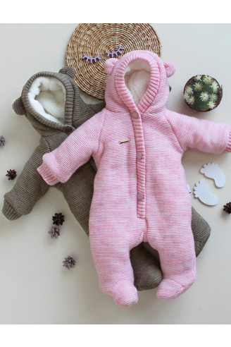 Купить Детский полушерстянной комбинезон для новорожденного Мишутка в 3х цветах