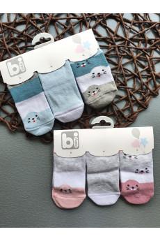 Стильный набор носочков для новорожденных Тюлени, ТМ BiBaby