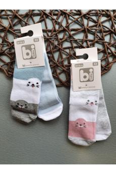 Набор носков из 2х пар для малышей Тюлени, ТМ BiBaby