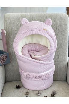"""Конверт на выписку для новорожденных """"Мишутка розовый"""""""