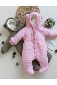 Детский полушерстянной комбинезон для новорожденного Мишутка в 3х цветах