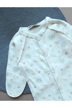 Комбинезон слип с внешними швами для новорожденных Капитошка ТМ Няня