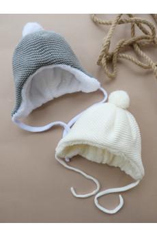 Шапочка для новорожденного Зимняя сказка