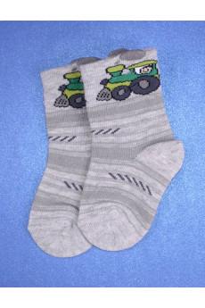 Носочки Трактор серые ТМ Duna