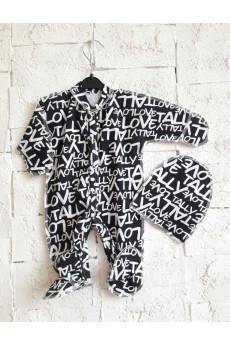 Комплект для новорожденных с человечком Буквы ТМ Пупчик