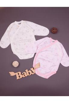 Боди для новорожденных Слоники, футер TM Merry Bee