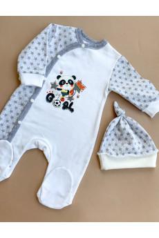 Комплект Panda Baby интерлок,ТМ Happy Tot